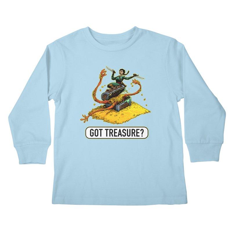 Got Treasure? Kids Longsleeve T-Shirt by Joe Abboreno's Artist Shop