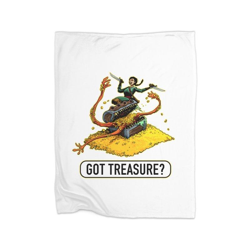 Got Treasure? Home Fleece Blanket Blanket by Joe Abboreno's Artist Shop