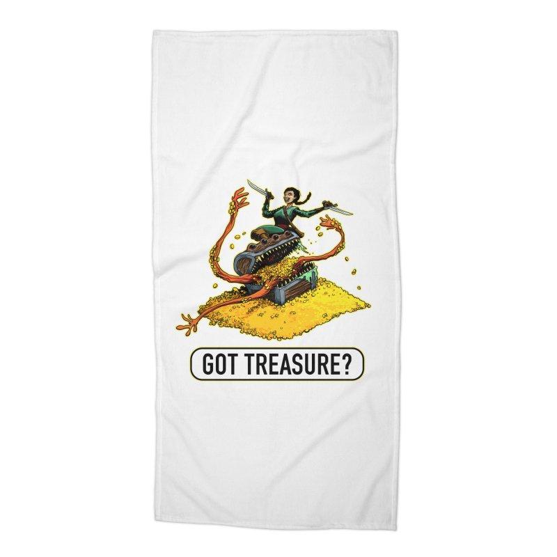 Got Treasure? Accessories Beach Towel by Joe Abboreno's Artist Shop