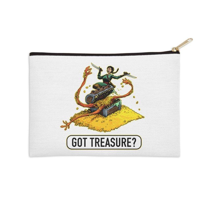 Got Treasure? Accessories Zip Pouch by Joe Abboreno's Artist Shop