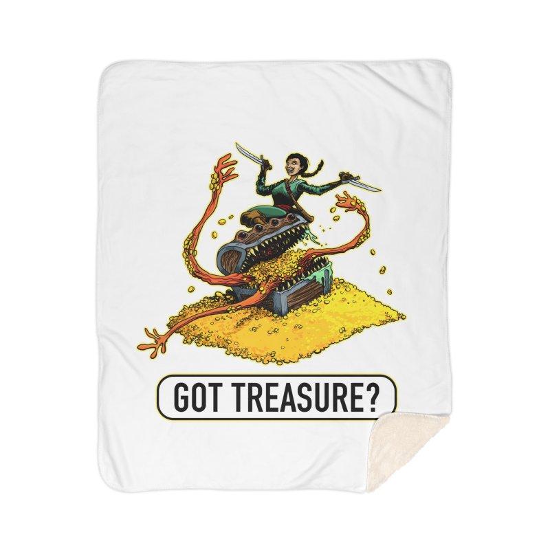 Got Treasure? Home Sherpa Blanket Blanket by Joe Abboreno's Artist Shop