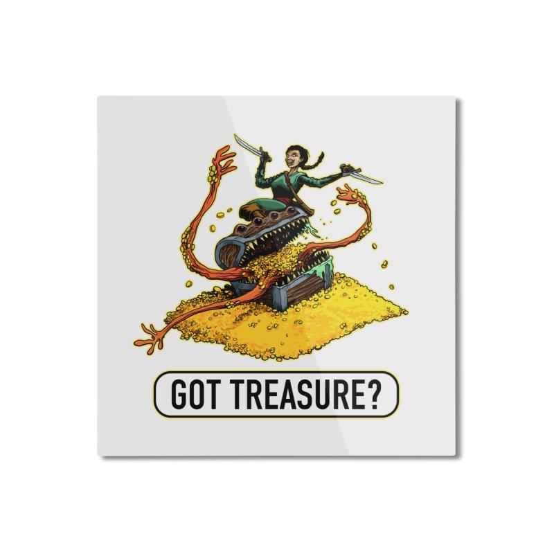 Got Treasure? Home Mounted Aluminum Print by Joe Abboreno's Artist Shop