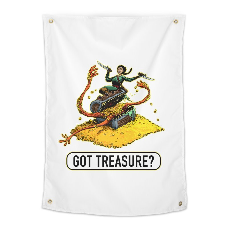 Got Treasure? Home Tapestry by Joe Abboreno's Artist Shop