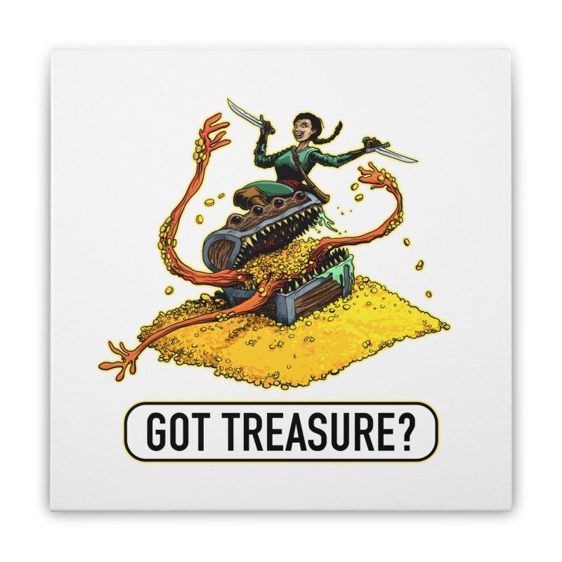 Got Treasure? Home Stretched Canvas by Joe Abboreno's Artist Shop