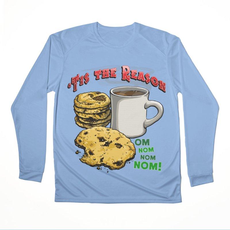 'Tis the Reason... Om Nom Nom Nom! Women's Longsleeve T-Shirt by Joe Abboreno's Artist Shop