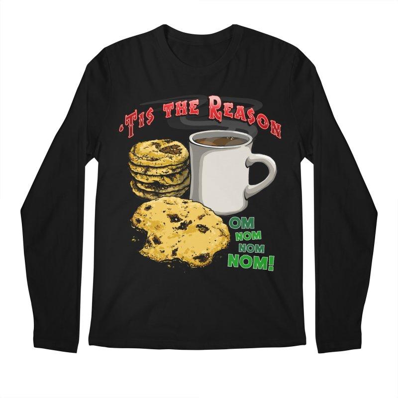 'Tis the Reason... Om Nom Nom Nom! Men's Regular Longsleeve T-Shirt by Joe Abboreno's Artist Shop