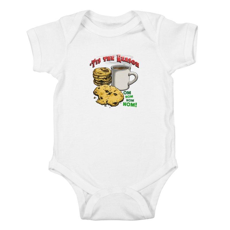 'Tis the Reason... Om Nom Nom Nom! Kids Baby Bodysuit by Joe Abboreno's Artist Shop