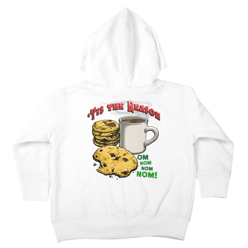 'Tis the Reason... Om Nom Nom Nom! Kids Toddler Zip-Up Hoody by Joe Abboreno's Artist Shop