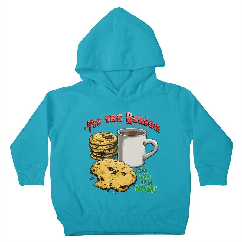 'Tis the Reason... Om Nom Nom Nom! Kids Toddler Pullover Hoody by Joe Abboreno's Artist Shop