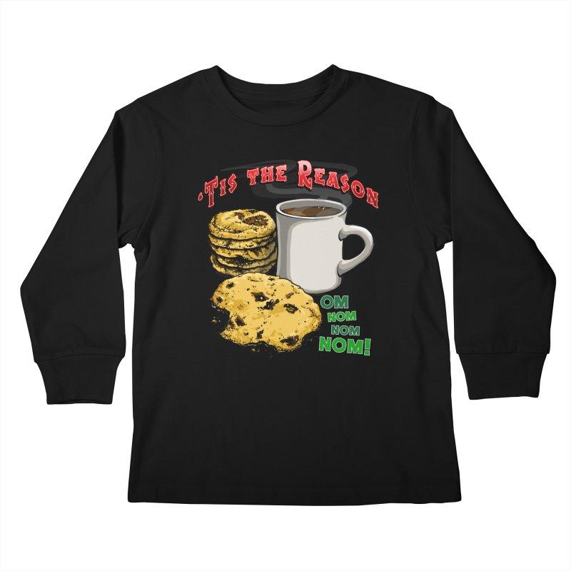 'Tis the Reason... Om Nom Nom Nom! Kids Longsleeve T-Shirt by Joe Abboreno's Artist Shop