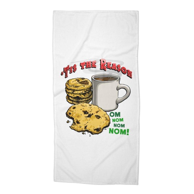 'Tis the Reason... Om Nom Nom Nom! Accessories Beach Towel by Joe Abboreno's Artist Shop