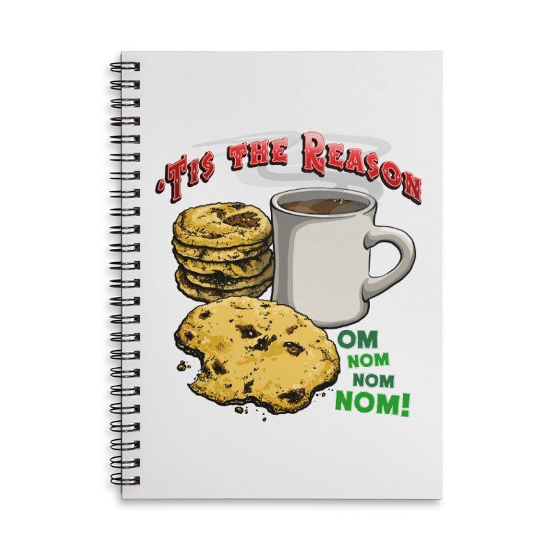 'Tis the Reason... Om Nom Nom Nom! Accessories Lined Spiral Notebook by Joe Abboreno's Artist Shop