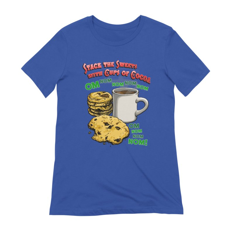 Stack the Sweets with Cups of Cocoa Women's Extra Soft T-Shirt by Joe Abboreno's Artist Shop