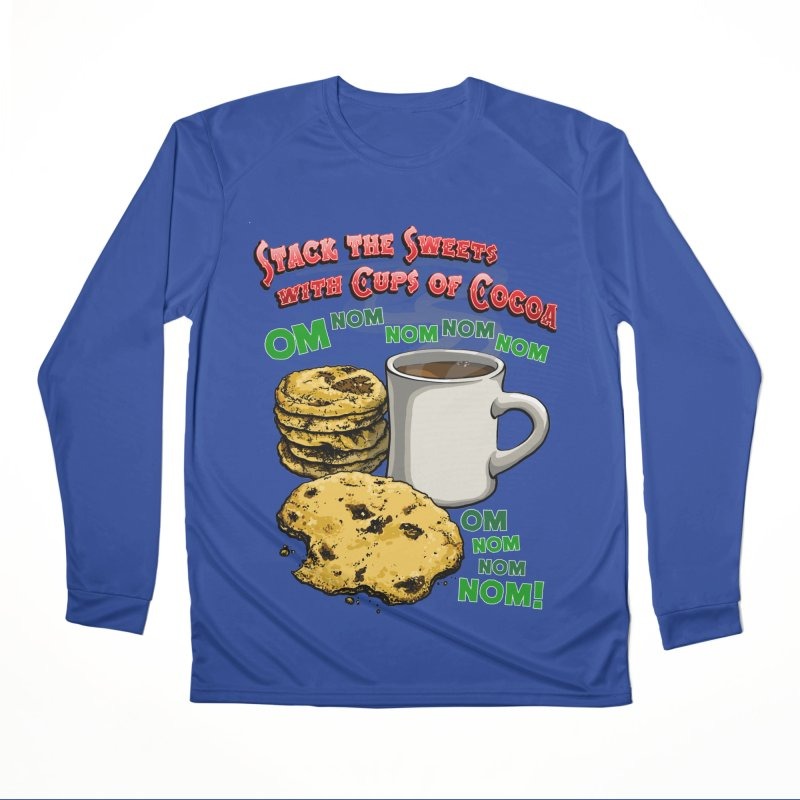 Stack the Sweets with Cups of Cocoa Men's Performance Longsleeve T-Shirt by Joe Abboreno's Artist Shop
