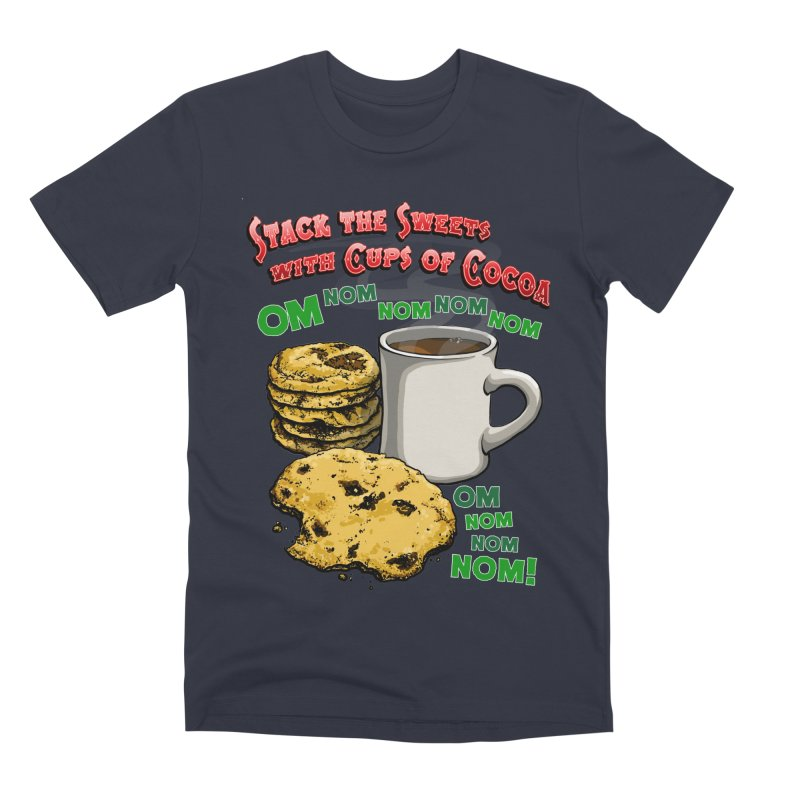 Stack the Sweets with Cups of Cocoa Men's Premium T-Shirt by Joe Abboreno's Artist Shop