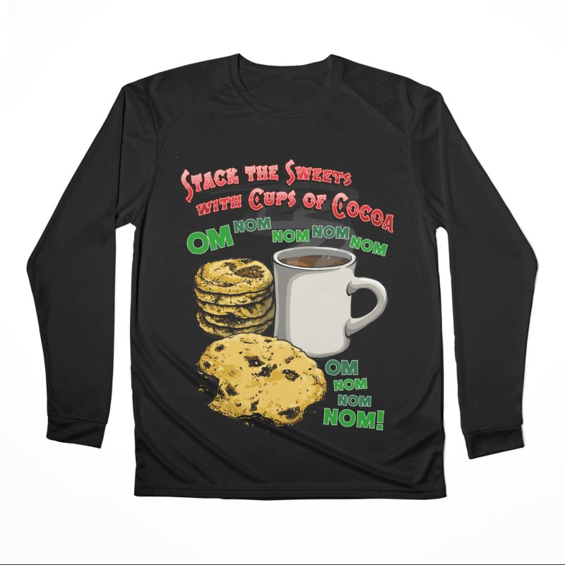 Stack the Sweets with Cups of Cocoa Women's Performance Unisex Longsleeve T-Shirt by Joe Abboreno's Artist Shop