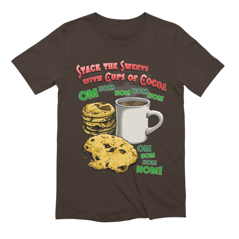 Stack the Sweets with Cups of Cocoa Men's Extra Soft T-Shirt by Joe Abboreno's Artist Shop