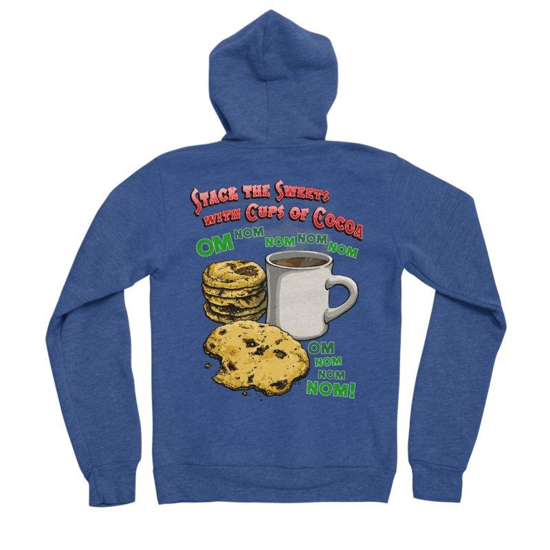 Stack the Sweets with Cups of Cocoa Men's Sponge Fleece Zip-Up Hoody by Joe Abboreno's Artist Shop