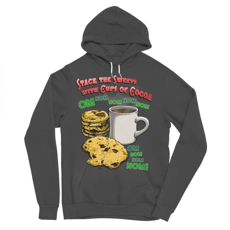 Stack the Sweets with Cups of Cocoa Men's Sponge Fleece Pullover Hoody by Joe Abboreno's Artist Shop