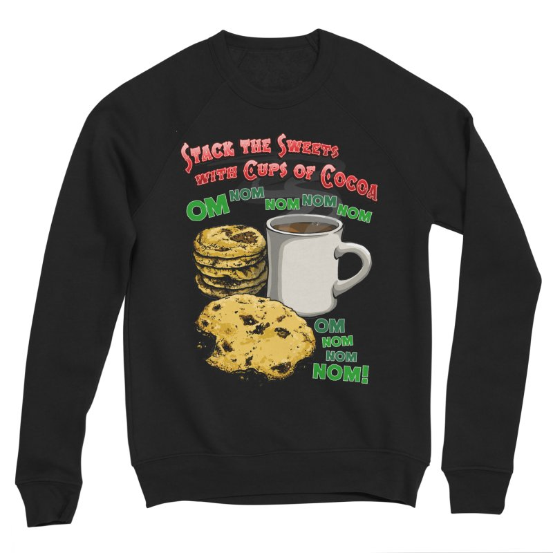 Stack the Sweets with Cups of Cocoa Men's Sponge Fleece Sweatshirt by Joe Abboreno's Artist Shop