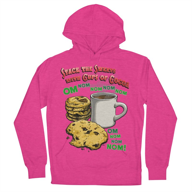 Stack the Sweets with Cups of Cocoa Women's French Terry Pullover Hoody by Joe Abboreno's Artist Shop
