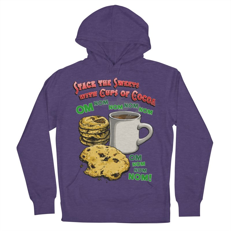 Stack the Sweets with Cups of Cocoa Men's French Terry Pullover Hoody by Joe Abboreno's Artist Shop