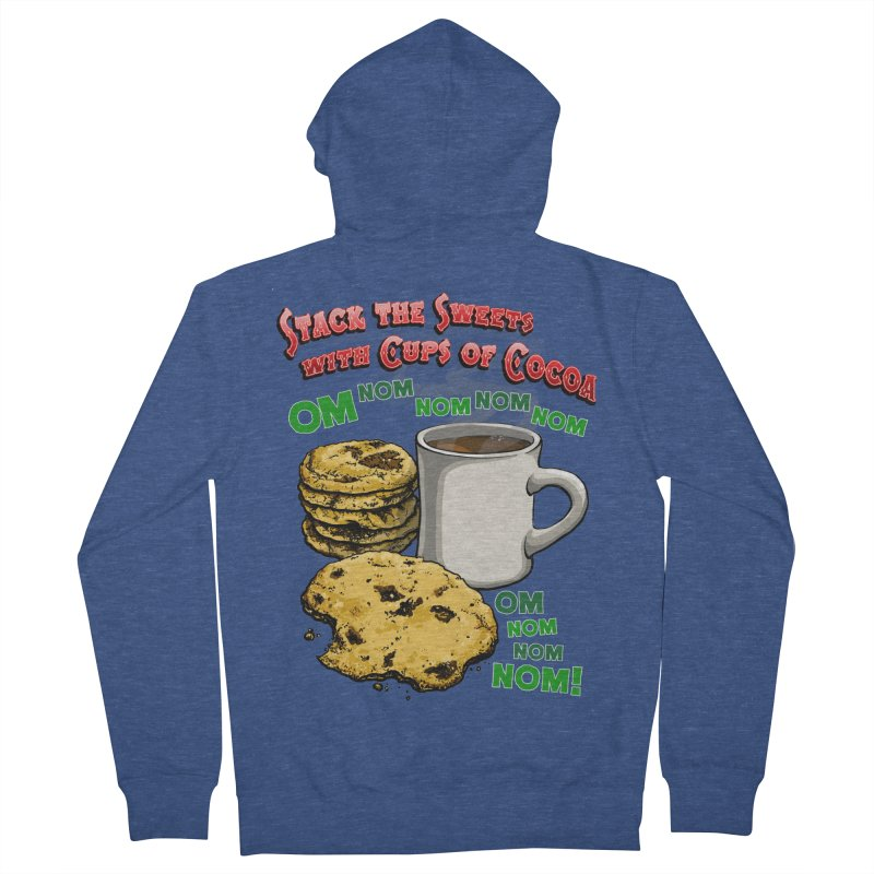 Stack the Sweets with Cups of Cocoa Women's French Terry Zip-Up Hoody by Joe Abboreno's Artist Shop
