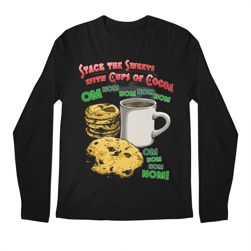 Stack the Sweets with Cups of Cocoa Men's Regular Longsleeve T-Shirt by Joe Abboreno's Artist Shop