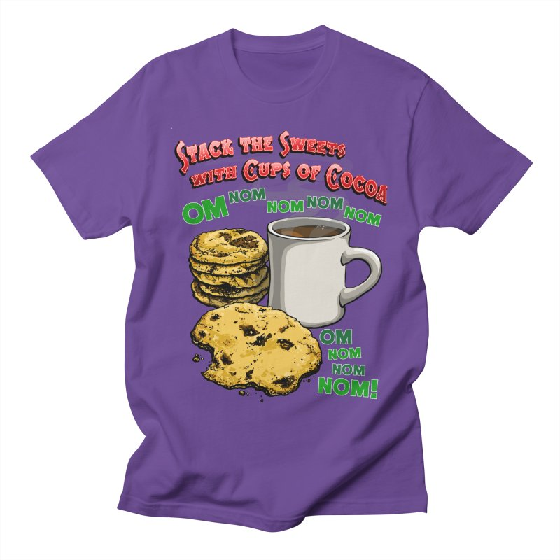 Stack the Sweets with Cups of Cocoa Men's Regular T-Shirt by Joe Abboreno's Artist Shop