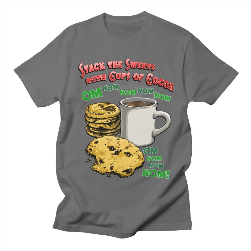 Stack the Sweets with Cups of Cocoa Men's T-Shirt by Joe Abboreno's Artist Shop