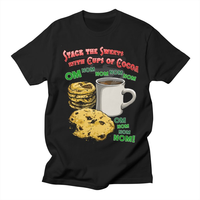 Stack the Sweets with Cups of Cocoa Women's Regular Unisex T-Shirt by Joe Abboreno's Artist Shop