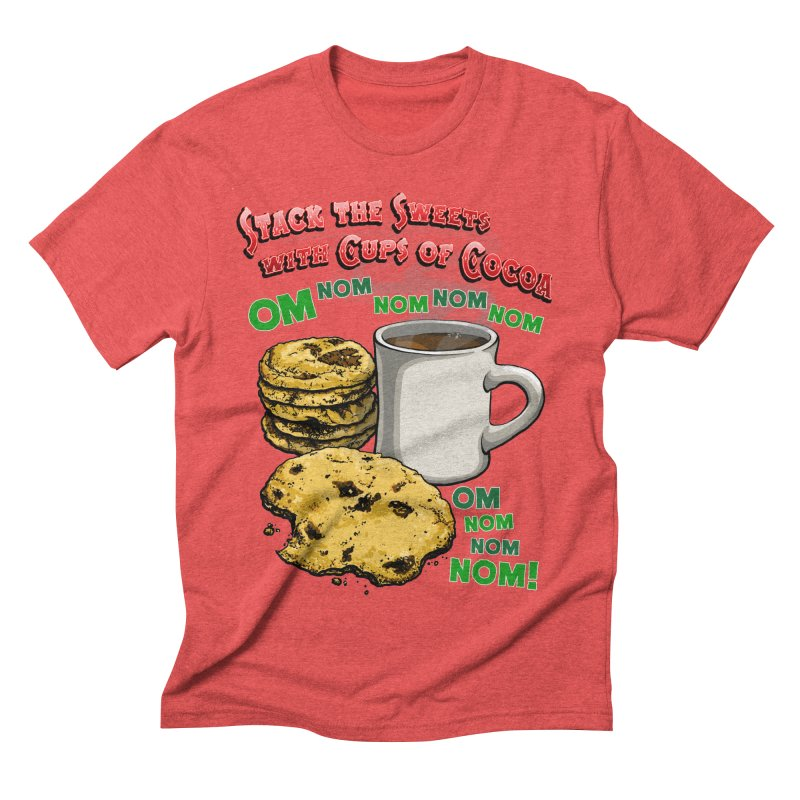 Stack the Sweets with Cups of Cocoa Men's Triblend T-Shirt by Joe Abboreno's Artist Shop