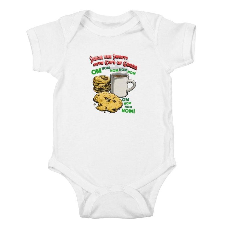 Stack the Sweets with Cups of Cocoa Kids Baby Bodysuit by Joe Abboreno's Artist Shop