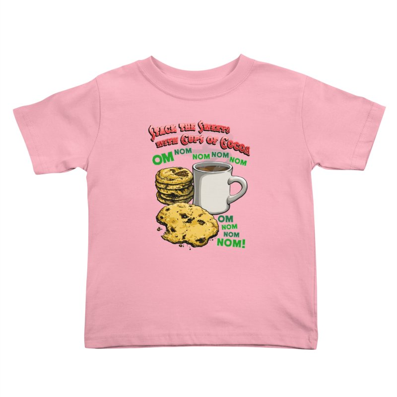 Stack the Sweets with Cups of Cocoa Kids Toddler T-Shirt by Joe Abboreno's Artist Shop