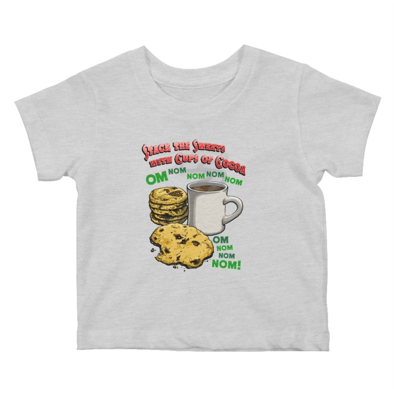 Stack the Sweets with Cups of Cocoa Kids Baby T-Shirt by Joe Abboreno's Artist Shop