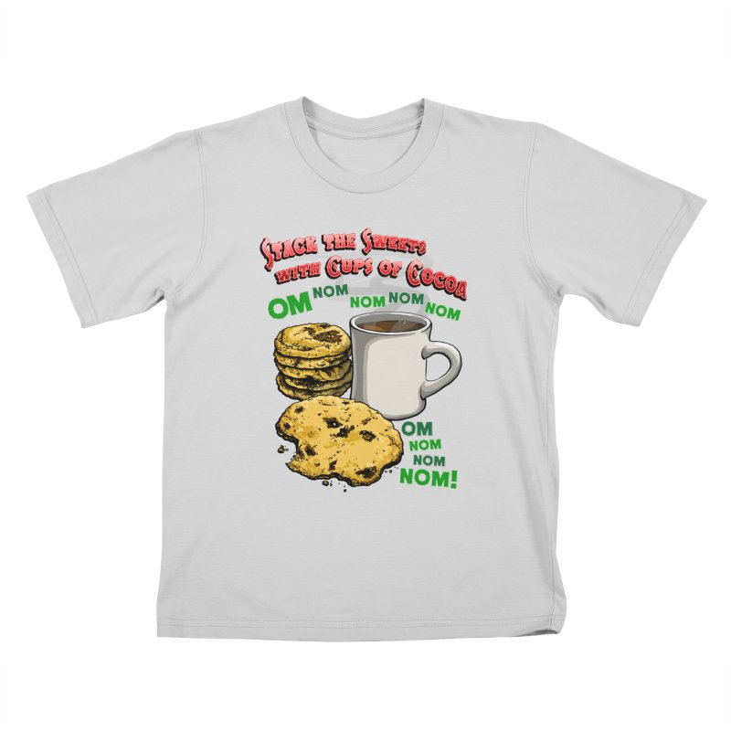 Stack the Sweets with Cups of Cocoa Kids T-Shirt by Joe Abboreno's Artist Shop