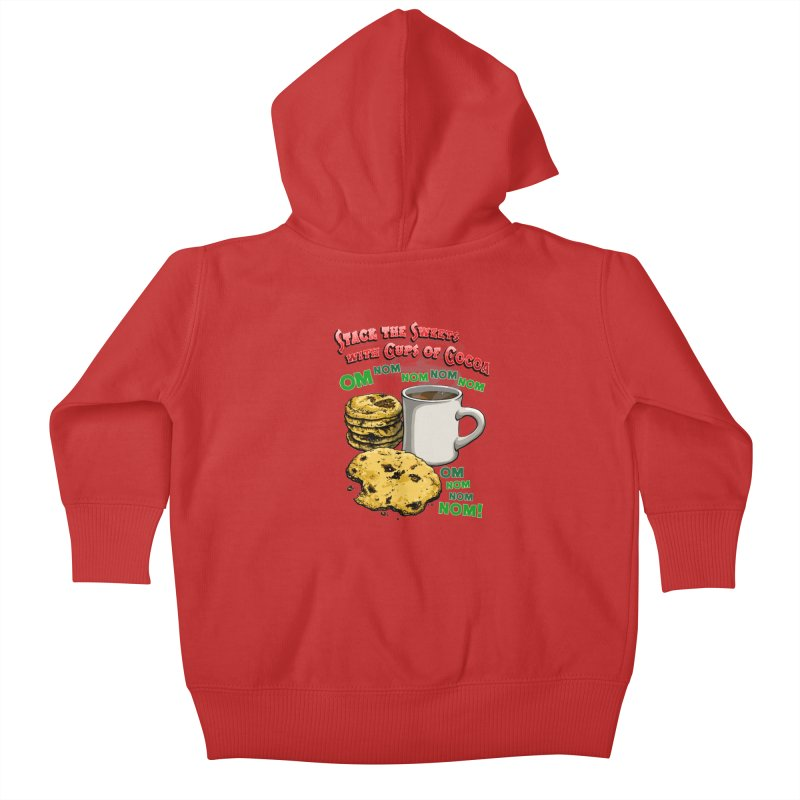 Stack the Sweets with Cups of Cocoa Kids Baby Zip-Up Hoody by Joe Abboreno's Artist Shop