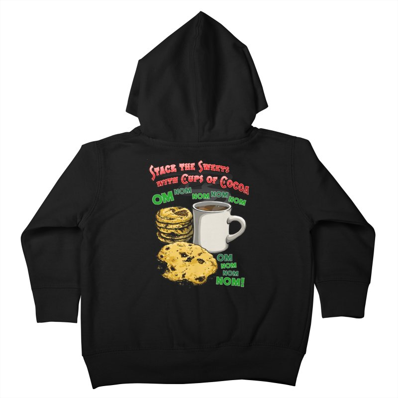Stack the Sweets with Cups of Cocoa Kids Toddler Zip-Up Hoody by Joe Abboreno's Artist Shop