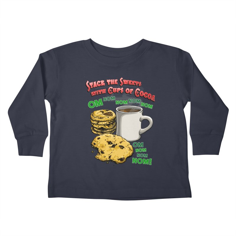 Stack the Sweets with Cups of Cocoa Kids Toddler Longsleeve T-Shirt by Joe Abboreno's Artist Shop