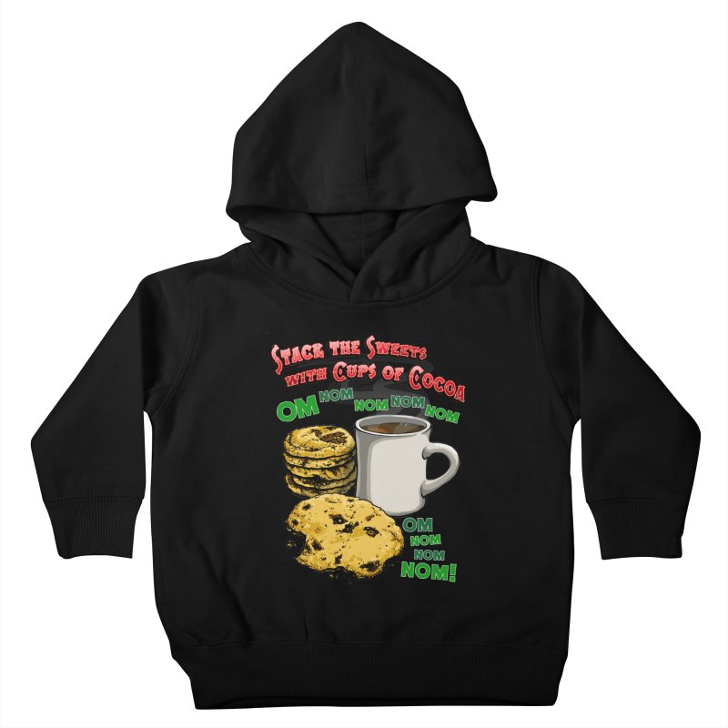 Stack the Sweets with Cups of Cocoa Kids Toddler Pullover Hoody by Joe Abboreno's Artist Shop