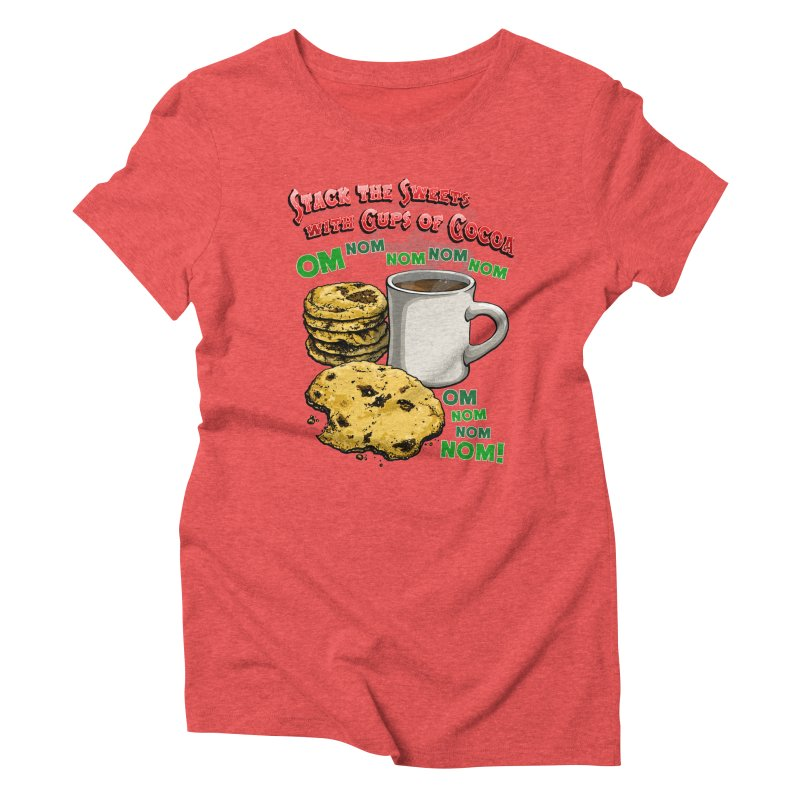 Stack the Sweets with Cups of Cocoa Women's Triblend T-Shirt by Joe Abboreno's Artist Shop