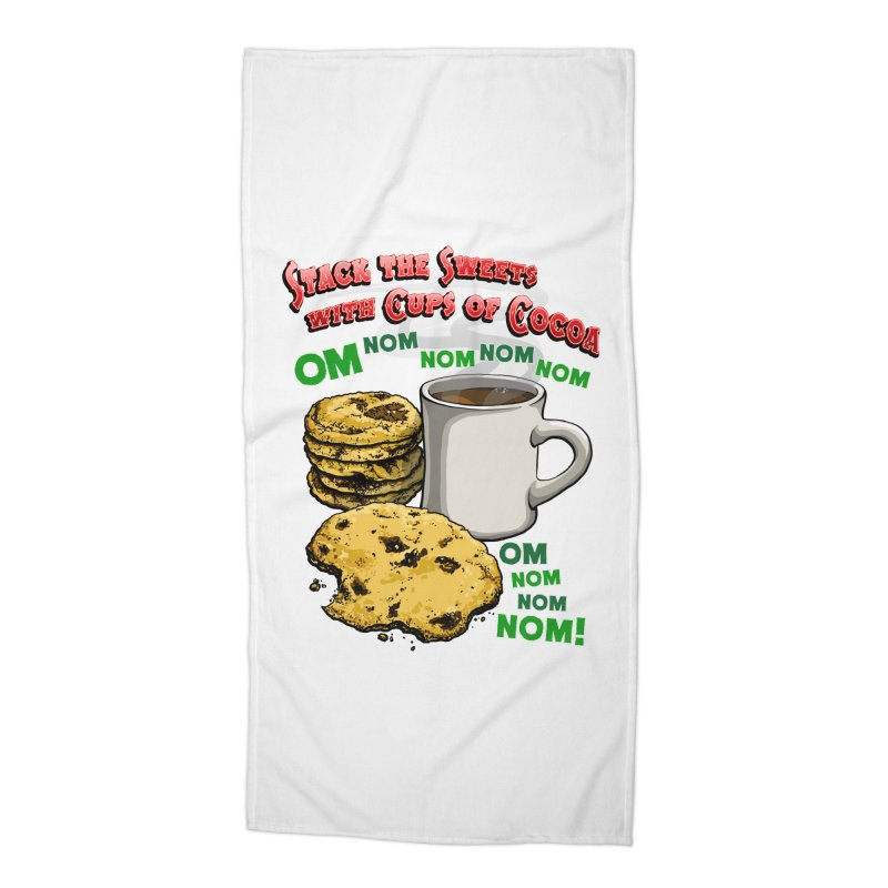Stack the Sweets with Cups of Cocoa Accessories Beach Towel by Joe Abboreno's Artist Shop