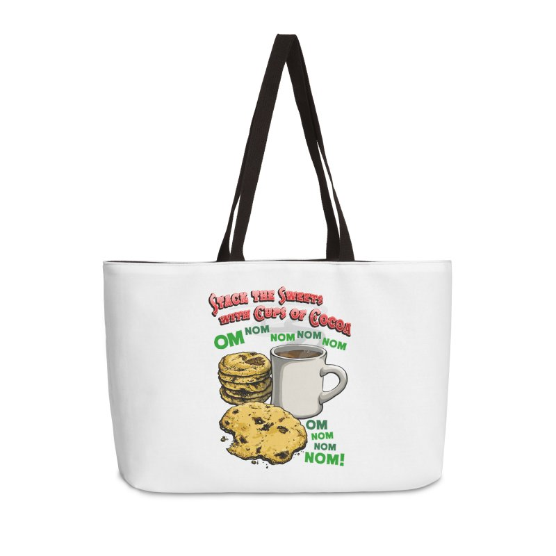 Stack the Sweets with Cups of Cocoa Accessories Weekender Bag Bag by Joe Abboreno's Artist Shop
