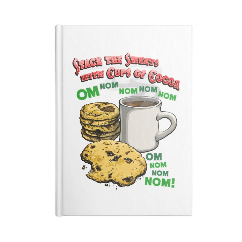 Stack the Sweets with Cups of Cocoa Accessories Blank Journal Notebook by Joe Abboreno's Artist Shop