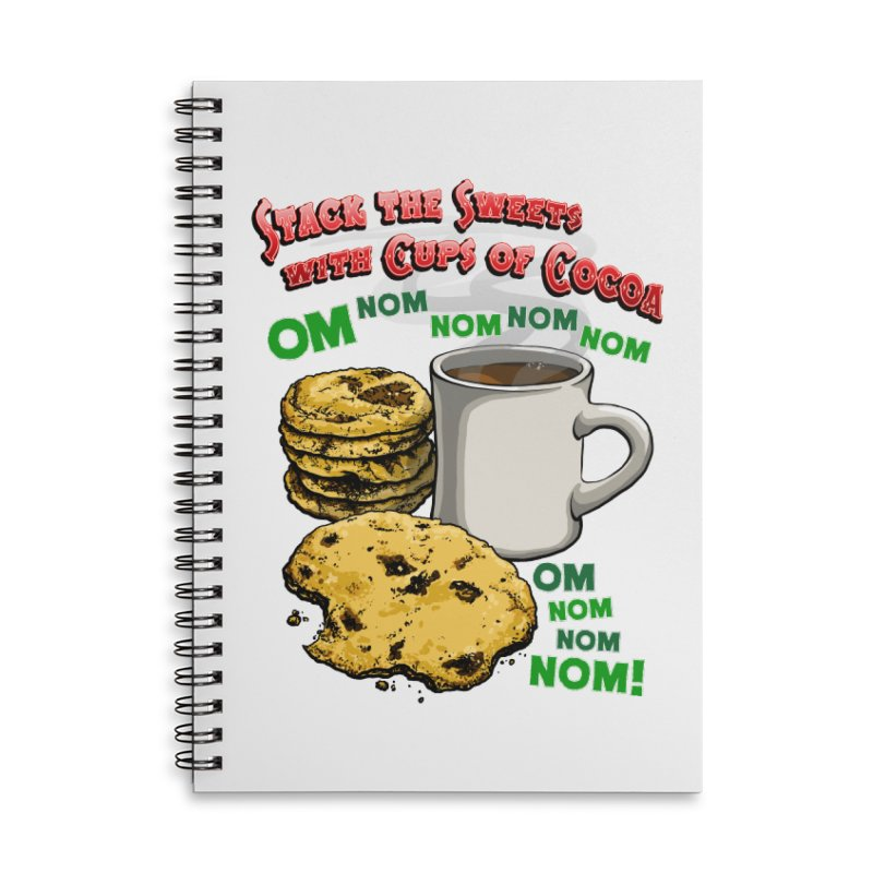 Stack the Sweets with Cups of Cocoa Accessories Lined Spiral Notebook by Joe Abboreno's Artist Shop