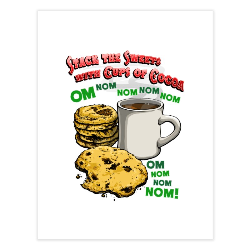 Stack the Sweets with Cups of Cocoa Home Fine Art Print by Joe Abboreno's Artist Shop