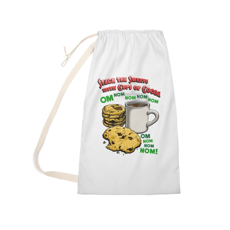 Stack the Sweets with Cups of Cocoa Accessories Laundry Bag Bag by Joe Abboreno's Artist Shop