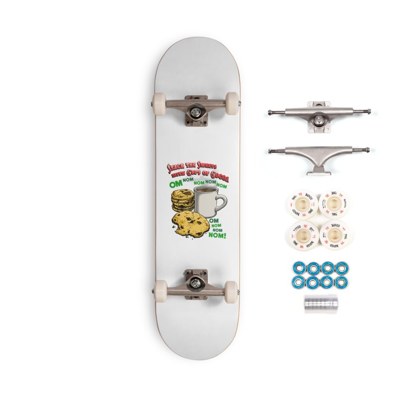 Stack the Sweets with Cups of Cocoa Accessories Complete - Premium Skateboard by Joe Abboreno's Artist Shop