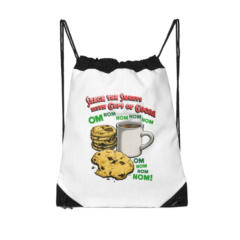Stack the Sweets with Cups of Cocoa Accessories Drawstring Bag Bag by Joe Abboreno's Artist Shop