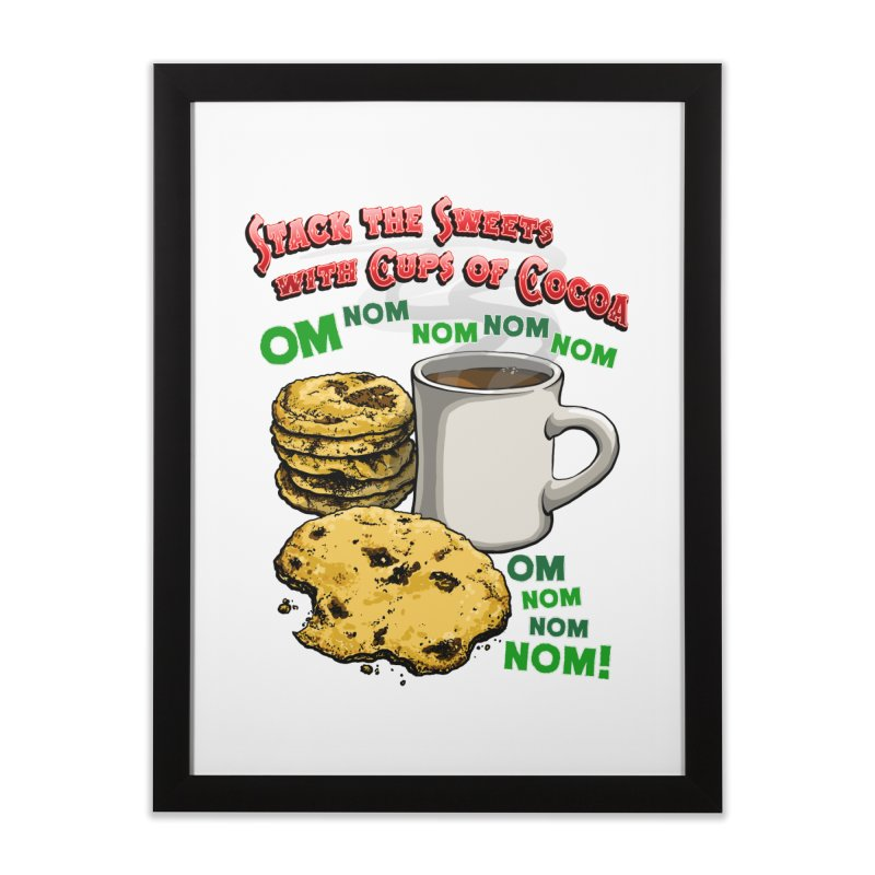 Stack the Sweets with Cups of Cocoa Home Framed Fine Art Print by Joe Abboreno's Artist Shop